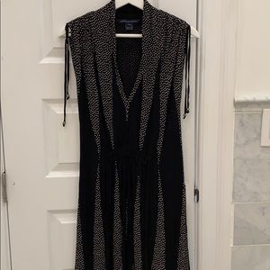 French Connection v neck black dress size 4